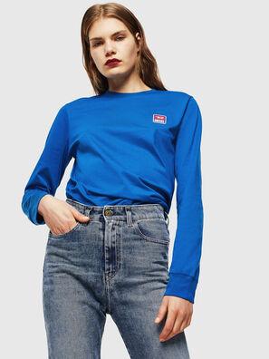 T-DIEGO-DIV-LS, Brillantblau - T-Shirts
