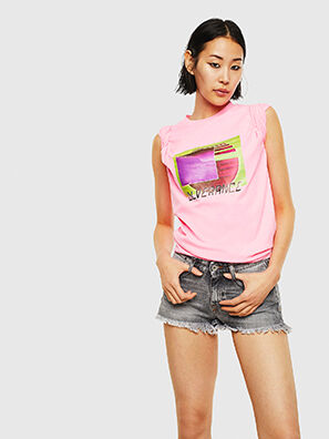 T-JUST-NEON-S1, Rosa - T-Shirts