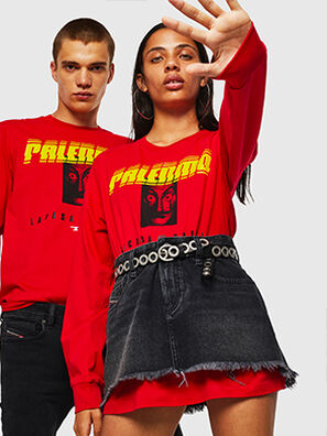 LCP-T-JUST-LS-PALERM, Rot - T-Shirts