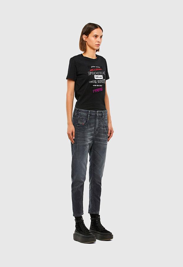 Fayza JoggJeans 069QA, Schwarz/Dunkelgrau - Jeans
