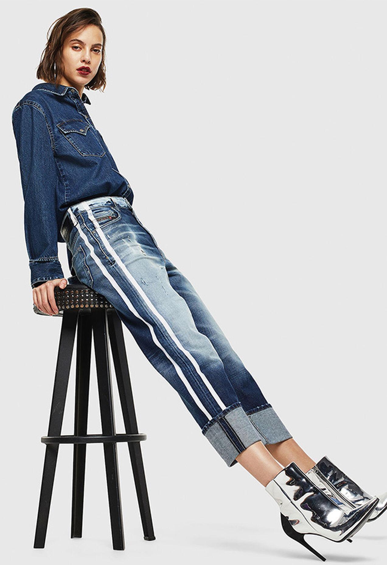 D-Reggy 0096S, Mittelblau - Jeans