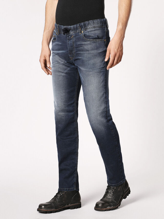 Diesel Waykee JoggJeans 0683Y, Dunkelblau - Jeans - Image 7