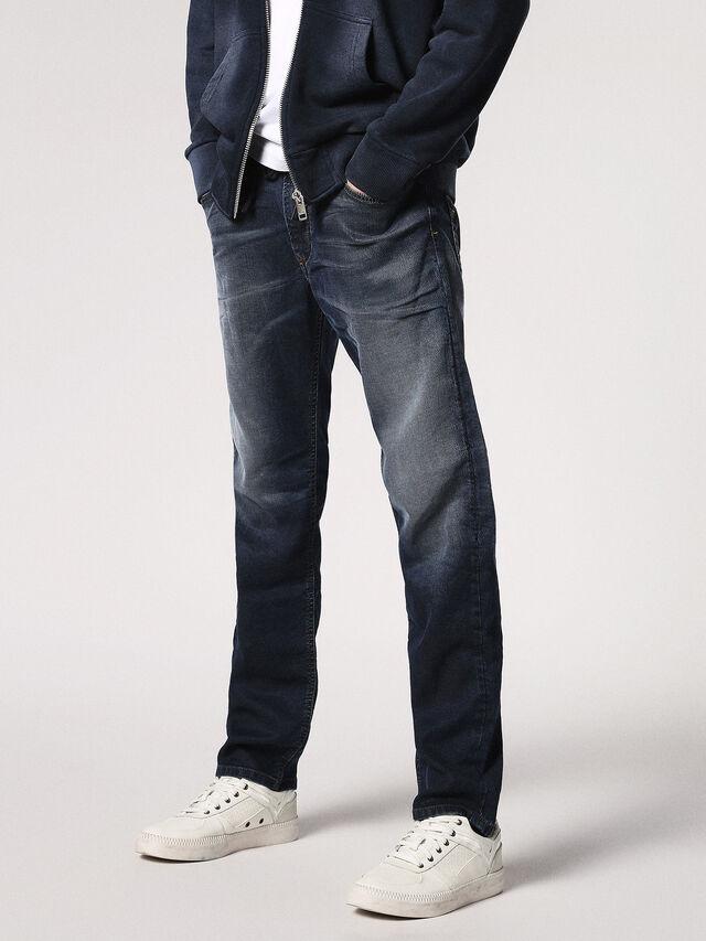 Diesel Waykee JoggJeans 0683Y, Dunkelblau - Jeans - Image 1
