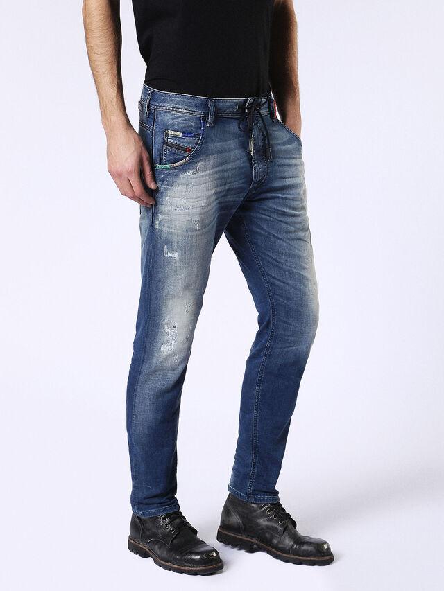 Diesel - Krooley JoggJeans 0680Y, Mittelblau - Jeans - Image 6