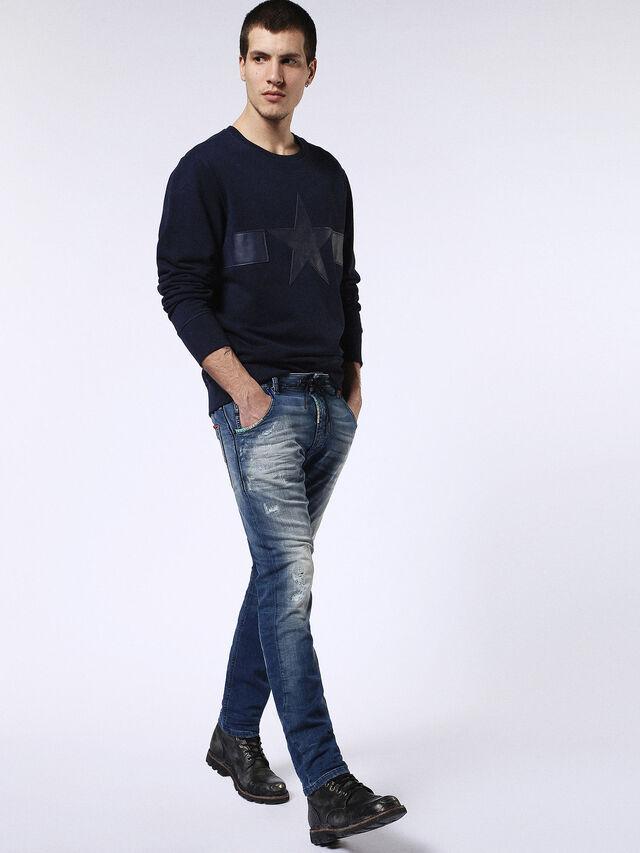Diesel - Krooley JoggJeans 0680Y, Mittelblau - Jeans - Image 5