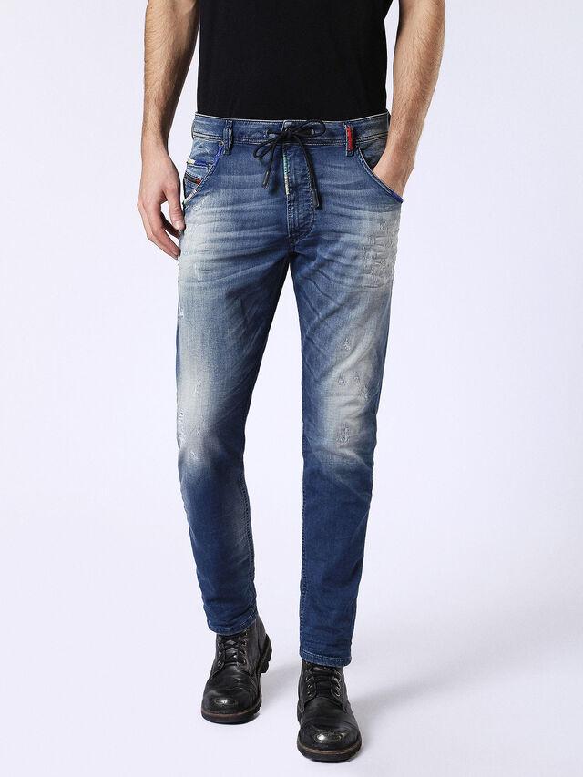 Diesel - Krooley JoggJeans 0680Y, Mittelblau - Jeans - Image 2