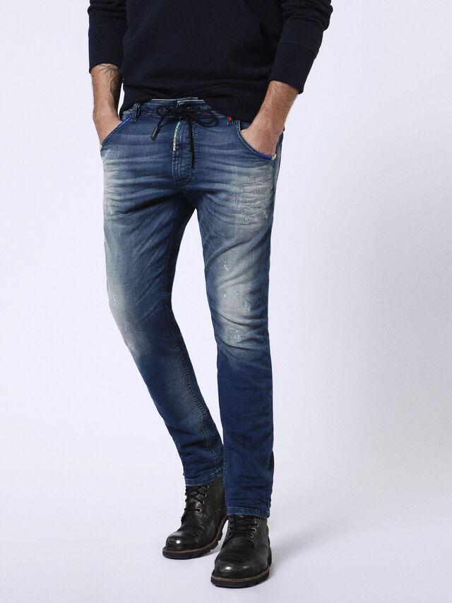 Diesel - Krooley JoggJeans 0680Y, Mittelblau - Jeans - Image 1