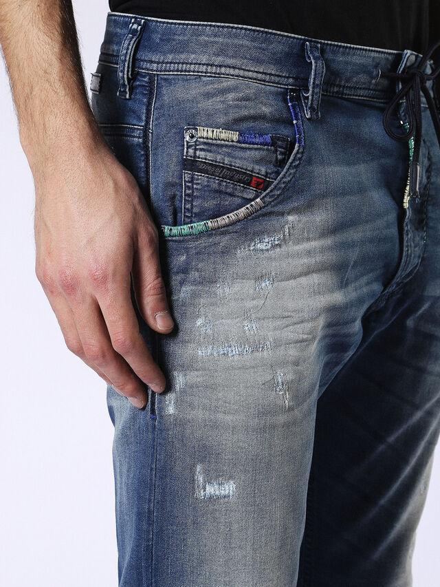 Diesel - Krooley JoggJeans 0680Y, Mittelblau - Jeans - Image 4