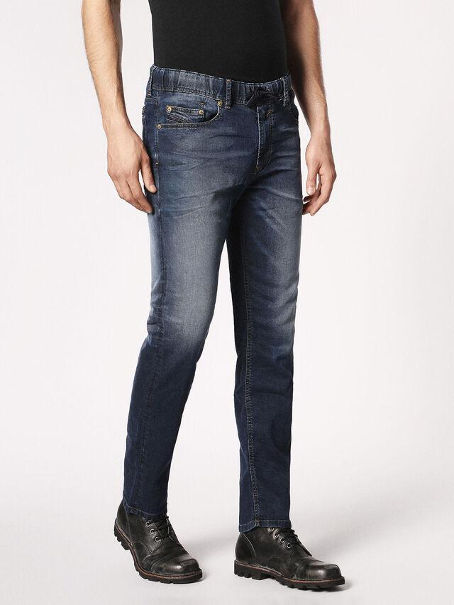 Diesel - Waykee JoggJeans 0683Y, Dunkelblau - Jeans - Image 6