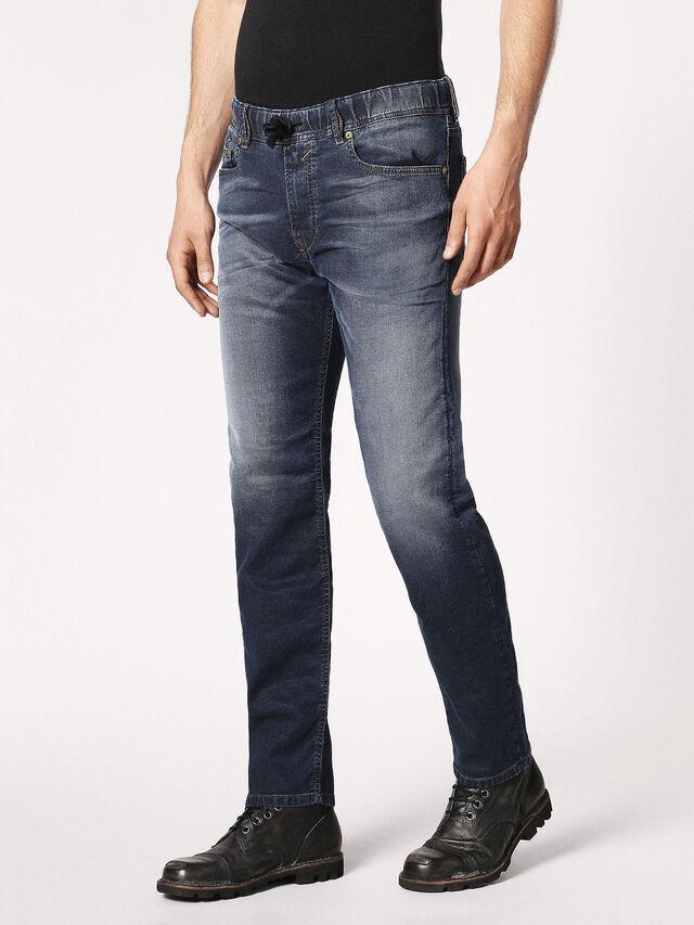 Diesel - Waykee JoggJeans 0683Y, Dunkelblau - Jeans - Image 7