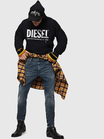 Diesel - Krooley JoggJeans 0870W, Mittelblau - Jeans - Image 5