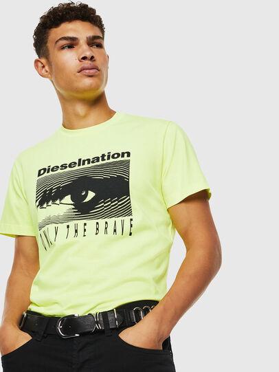 Diesel - T-DIEGO-J4, Neongelb - T-Shirts - Image 7