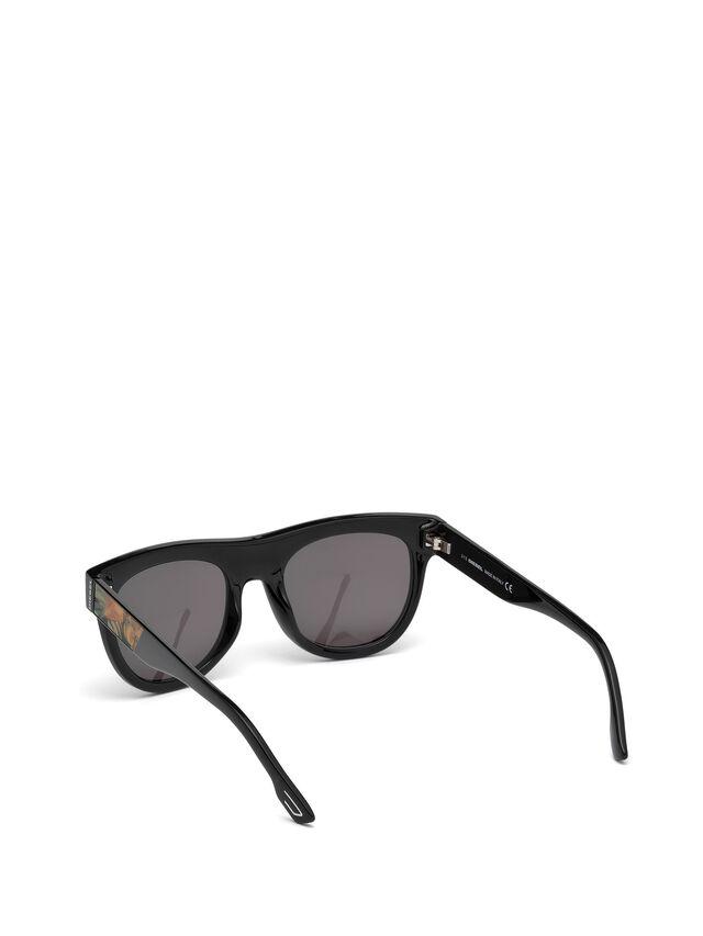 Diesel - DM0160, Schwarz/Orange - Sonnenbrille - Image 2