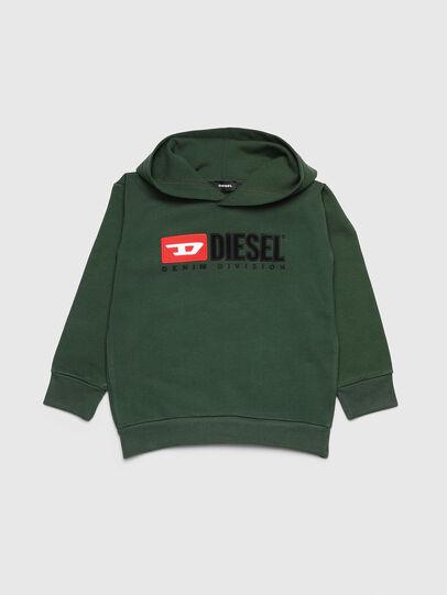 Diesel - SDIVISION OVER, Dunkelgrün - Sweatshirts - Image 1