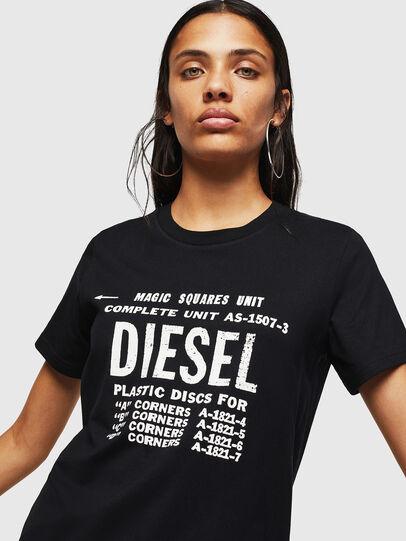 Diesel - T-SILY-ZF, Schwarz - T-Shirts - Image 3