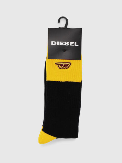 Diesel - SKM-RAY, Schwarz/Gelb - Strümpfe - Image 2