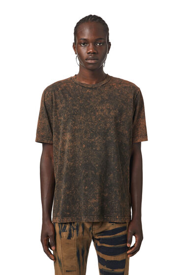 T-Shirt mit Marmoreffekt