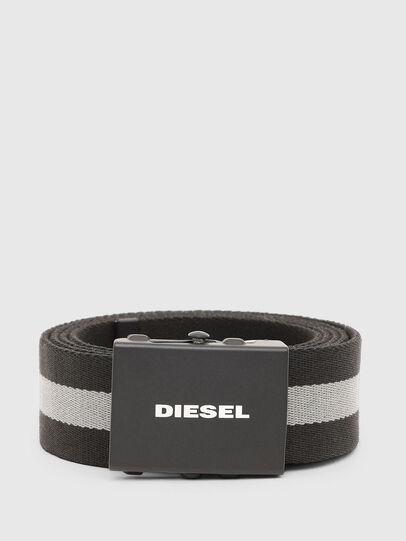 Diesel - B-PLATA, Schwarz/Grau - Gürtel - Image 1