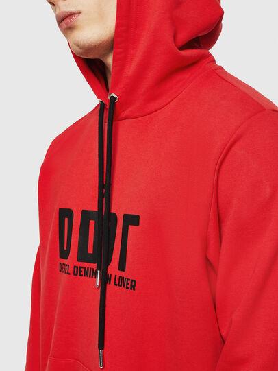 Diesel - S-GIR-HOOD-A1, Feuerrot - Sweatshirts - Image 4