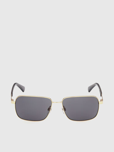 Rechteckige Metall-Sonnenbrille