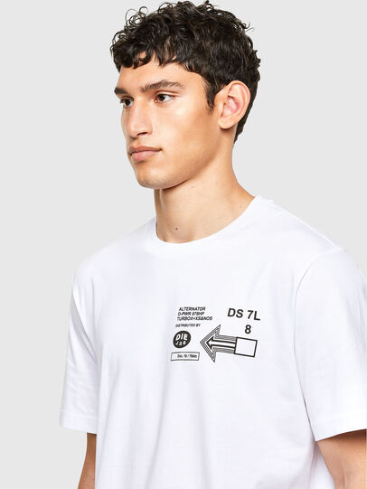 Diesel - T-JUST-A39, Weiß - T-Shirts - Image 3