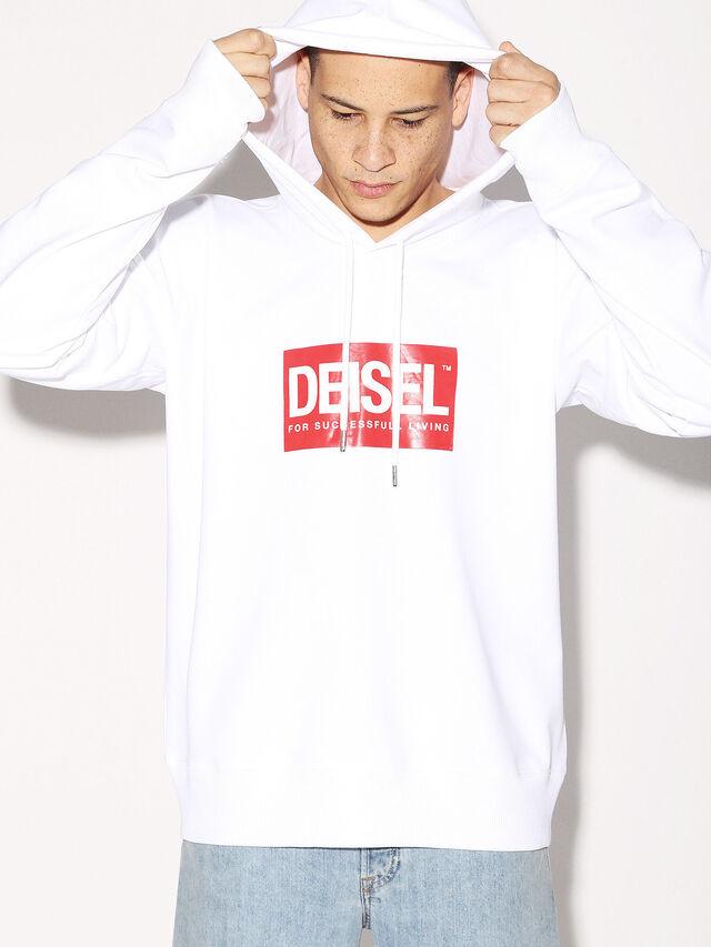 Diesel - DEIS-SHOOD, Weiß - Sweatshirts - Image 2