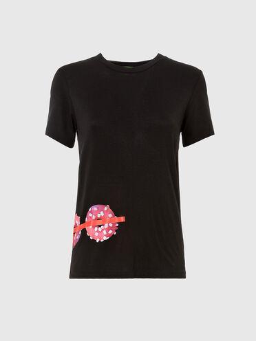 Nachhaltig hergestelltes T-Shirt mit Donutmotiv