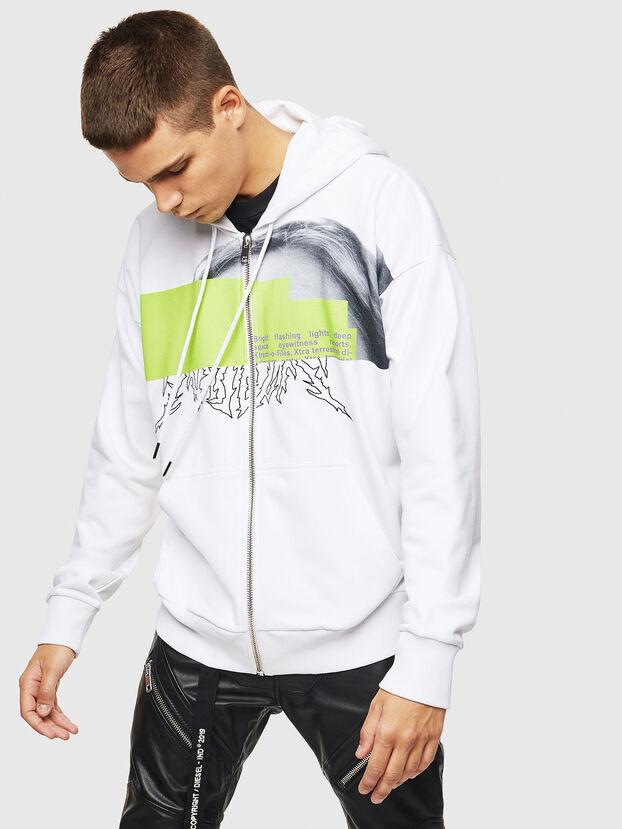 S-ALBY-ZIP-B1, Weiß - Sweatshirts