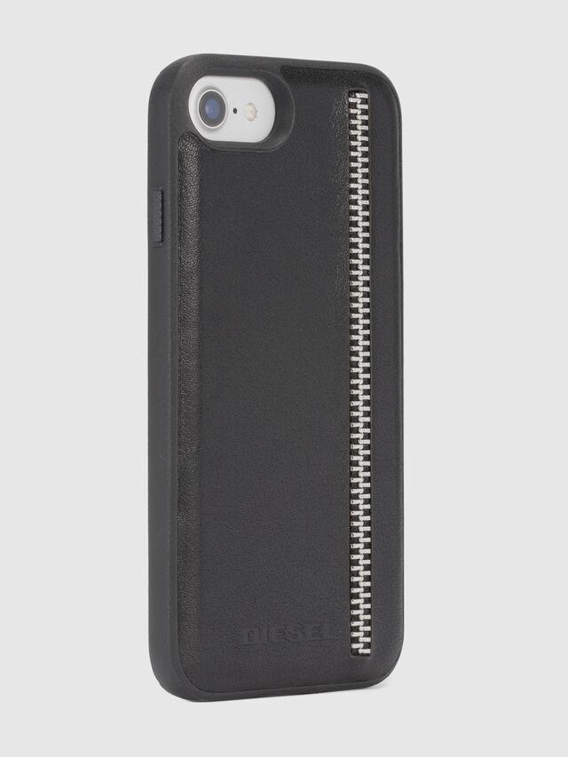 Diesel ZIP BLACK LEATHER IPHONE 8 PLUS/7 PLUS/6s PLUS/6 PLUS CASE, Schwarz - Schutzhüllen - Image 5