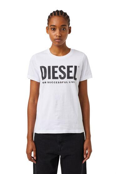 T-Shirt mit PVC-Schriftzug und -Slogan