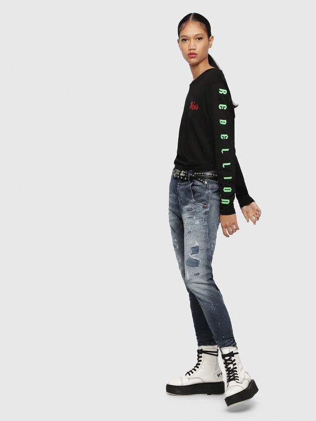 Diesel - Fayza JoggJeans 069CC, Mittelblau - Jeans - Image 4