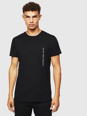 T-RUBIN-POCKET-J1, Schwarz - T-Shirts