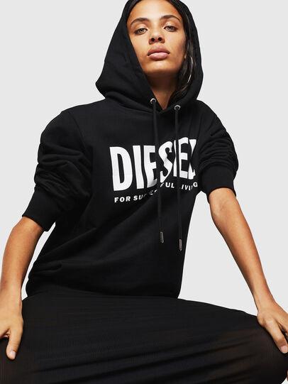 Diesel - F-GIR-HOOD-DIV-LOGO-, Schwarz - Sweatshirts - Image 4