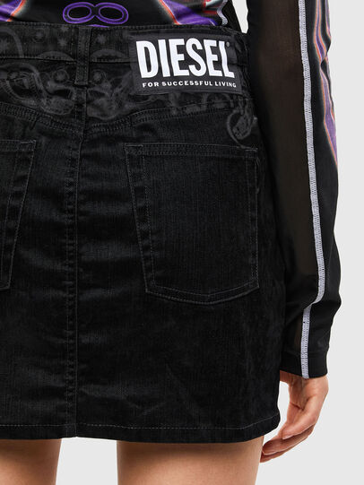 Diesel - DE-FREESIA-SP, Schwarz - Röcke - Image 5