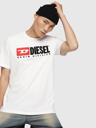 Diesel - T-JUST-DIVISION, Weiß - T-Shirts - Image 1