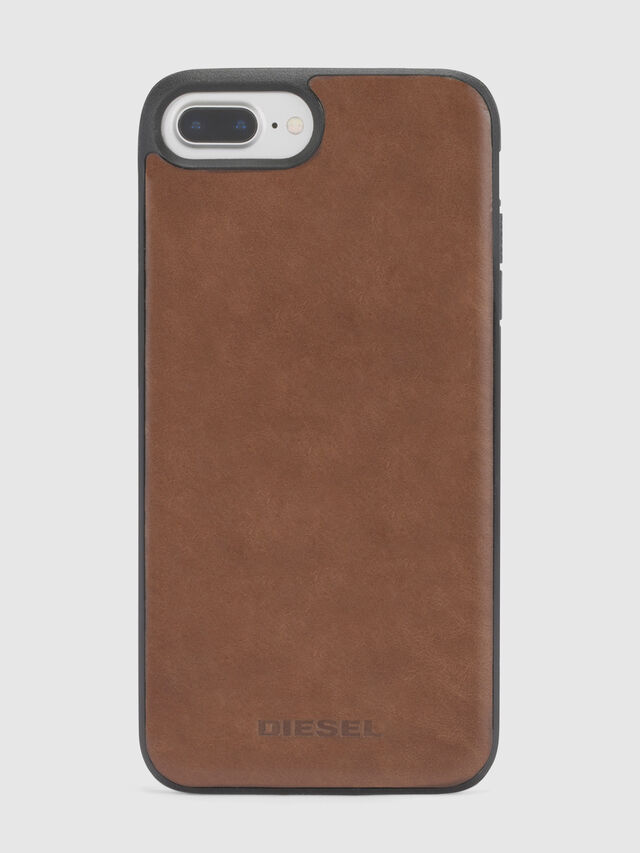 Diesel BROWN LEATHER IPHONE X CASE, Braun - Schutzhüllen - Image 2
