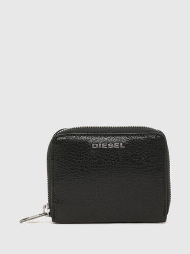 Portemonnaie mit umlaufendem Reißverschluss mit Denim-Details