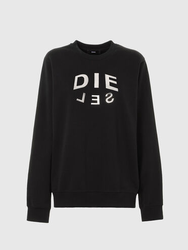 Sweatshirt mit Diesel-Logo in Metallic-Optik