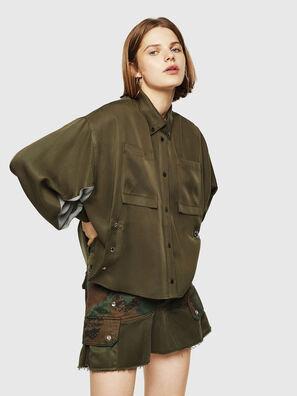 C-LEXYS, Armeegrün - Hemden