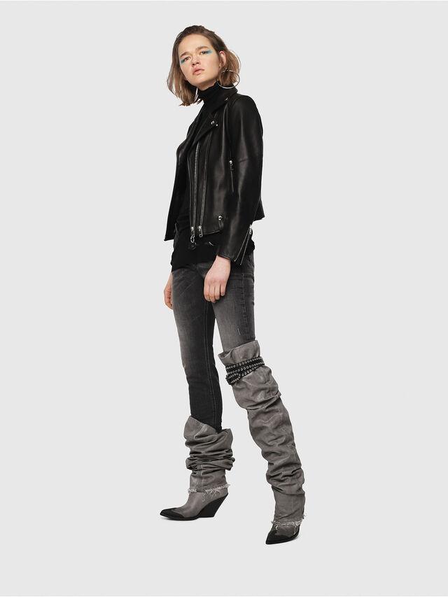 Diesel - Krailey JoggJeans 0077T, Schwarz/Dunkelgrau - Jeans - Image 5