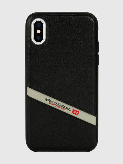 Diesel - DIESEL LEATHER CO-MOLD CASE FOR IPHONE XS & IPHONE X, Schwarz - Schutzhüllen - Image 2