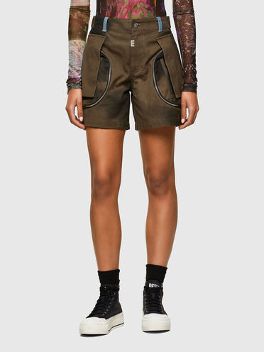 Cargo-Shorts aus Canvas im Batik-Look