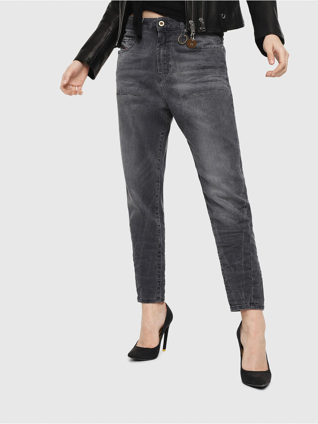 Diesel - Candys JoggJeans 069EP, Schwarz/Dunkelgrau - Jeans - Image 1