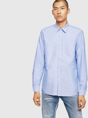 S-MOI-R-B1, Azurblau - Hemden