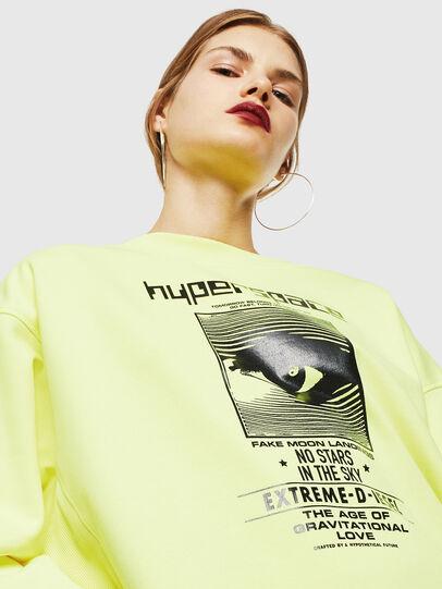 Diesel - F-AKUA, Neongelb - Sweatshirts - Image 3