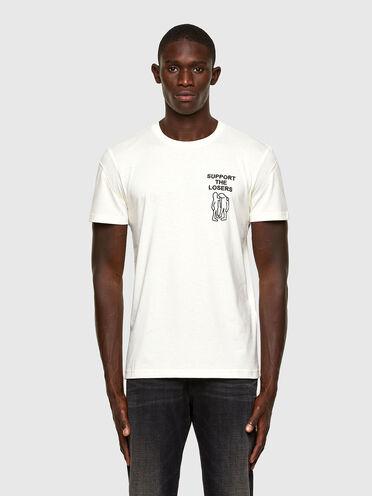 Nachhaltig hergestelltes T-Shirt mit Stickereidetail