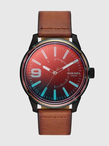 Rasp Nsbb Armbanduhr mit drei Zeigern und braunem Lederarmband