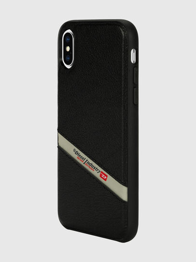 Diesel - DIESEL LEATHER CO-MOLD CASE FOR IPHONE XS & IPHONE X, Schwarz - Schutzhüllen - Image 5