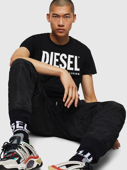 Diesel - T-DIEGO-LOGO, Schwarz - T-Shirts - Image 5