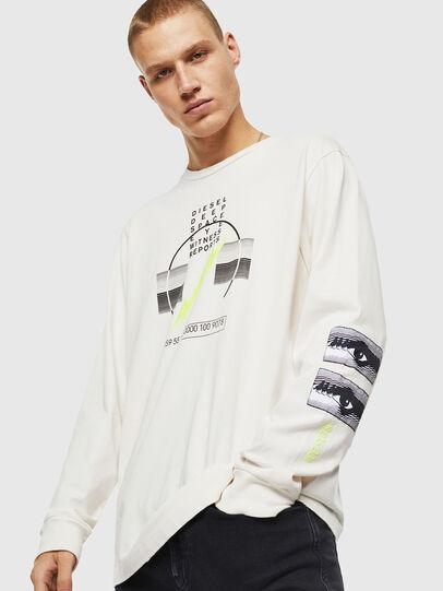 Diesel - T-JUST-LS-J3, Weiß - T-Shirts - Image 1